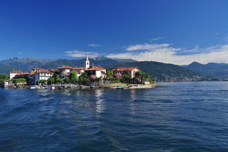Isola Superiore dei Pescatori, Lago Maggiore, Italy. stock photo