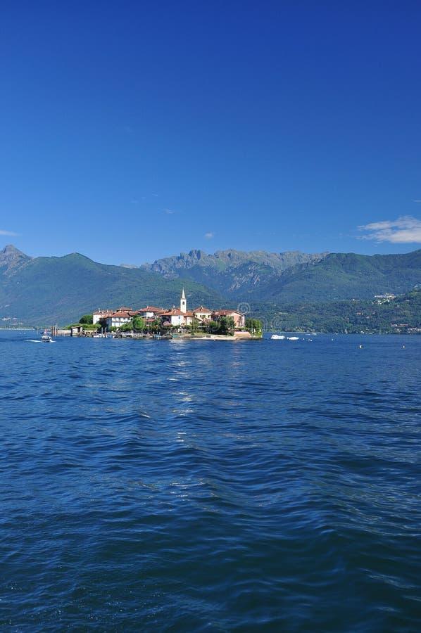 Stresa, Italy. Isola Superiore dei Pescatori island, Lago Maggiore stock photos