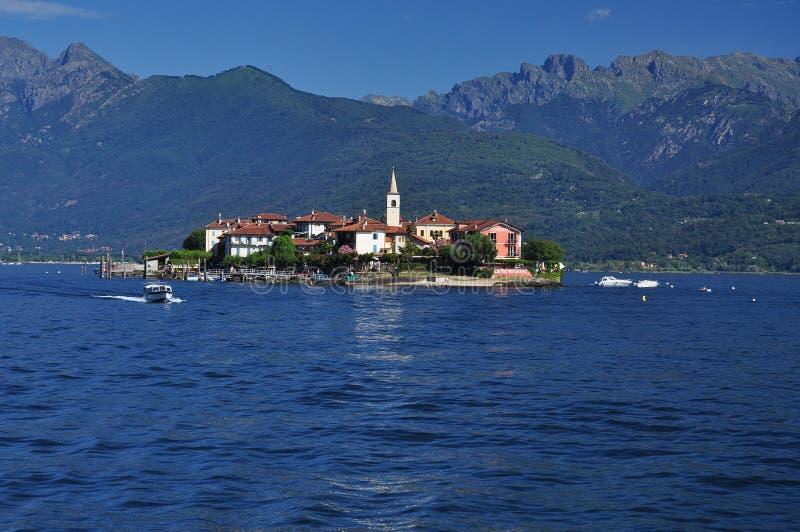 Stresa, Isola Superiore dei Pescatori island, Lago Maggiore, Italy. royalty free stock photography