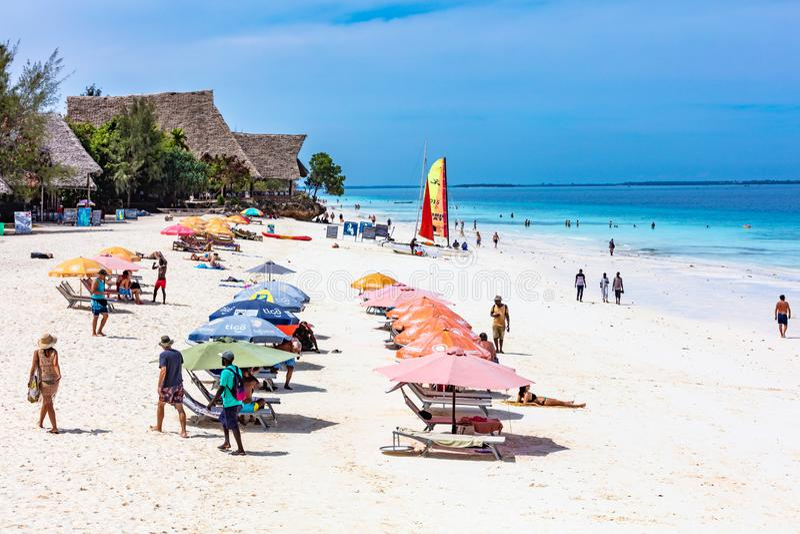 Isola Tanzania Africa orientale di Nungwi Unguja Zanzibar fotografia stock libera da diritti