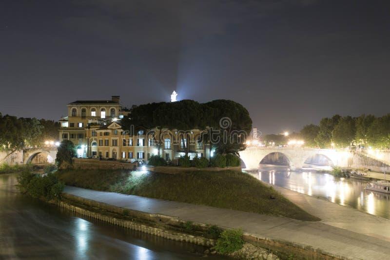 Isola Tiberina em Roma imagens de stock royalty free