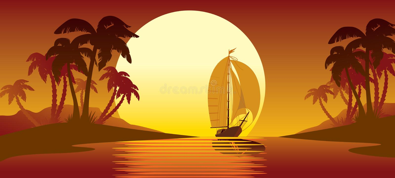 Isola tropicale royalty illustrazione gratis