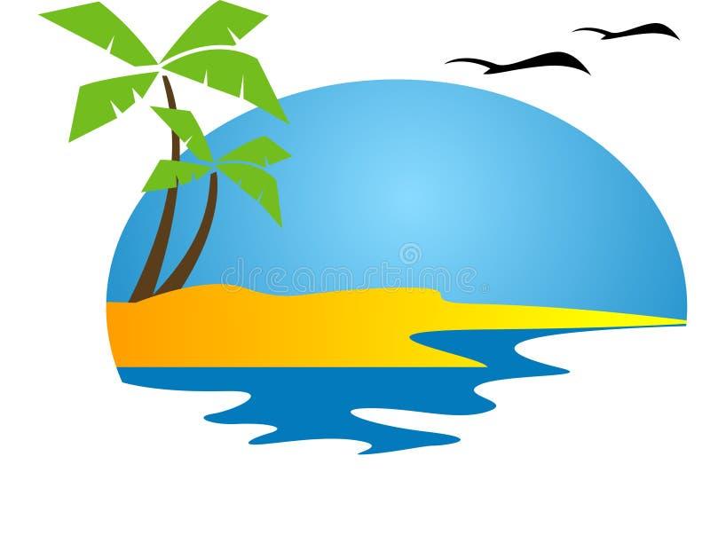 Isola tropicale illustrazione di stock