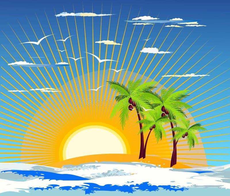 Download Isola tropicale illustrazione di stock. Illustrazione di castaway - 30829631