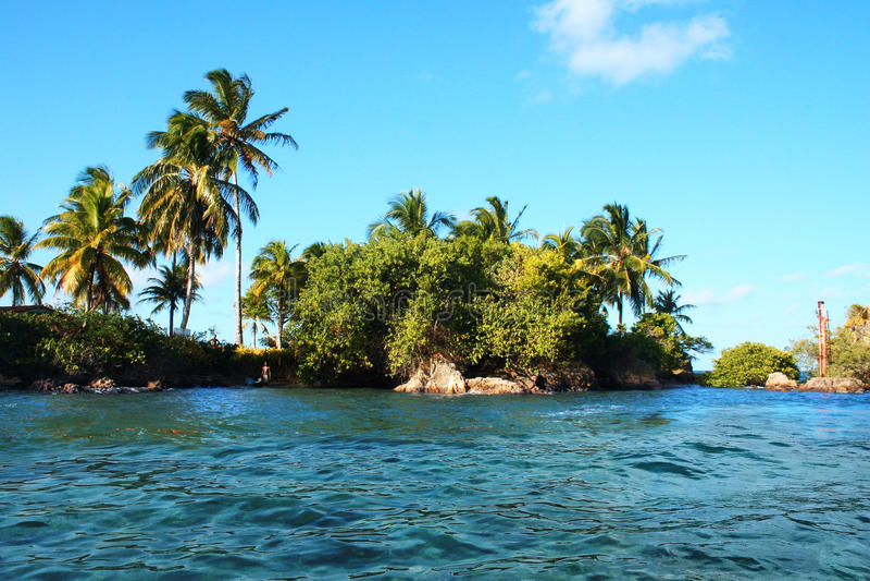 Isola tropicale immagine stock