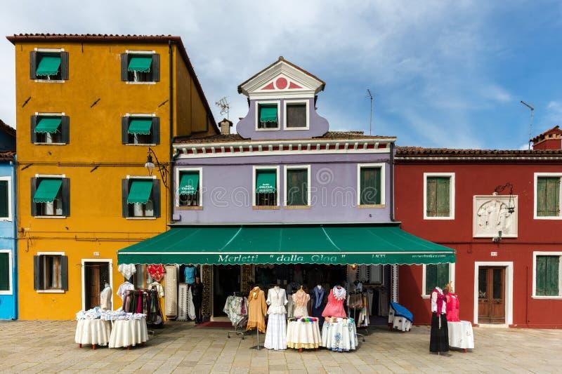 Isola veneziana di Burano fotografie stock libere da diritti