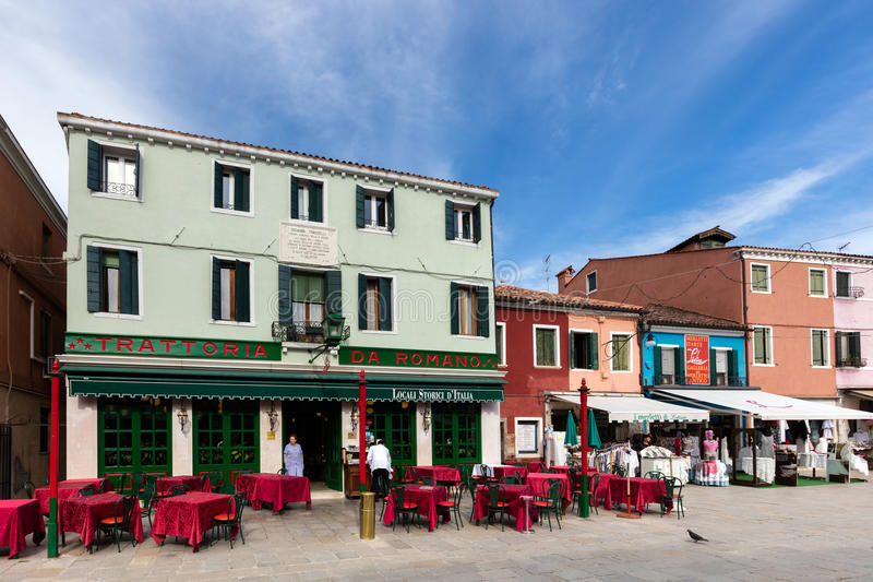 Isola veneziana di Burano fotografia stock libera da diritti