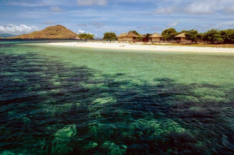 Isola vicino al Flores, Indonesia di Kanawa immagine stock