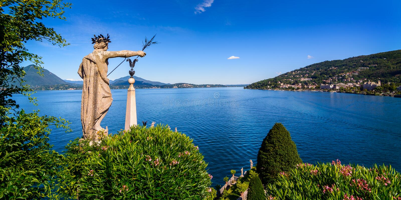 Isolabella Lake maggiore. A nice view the lake maggiore royalty free stock photos