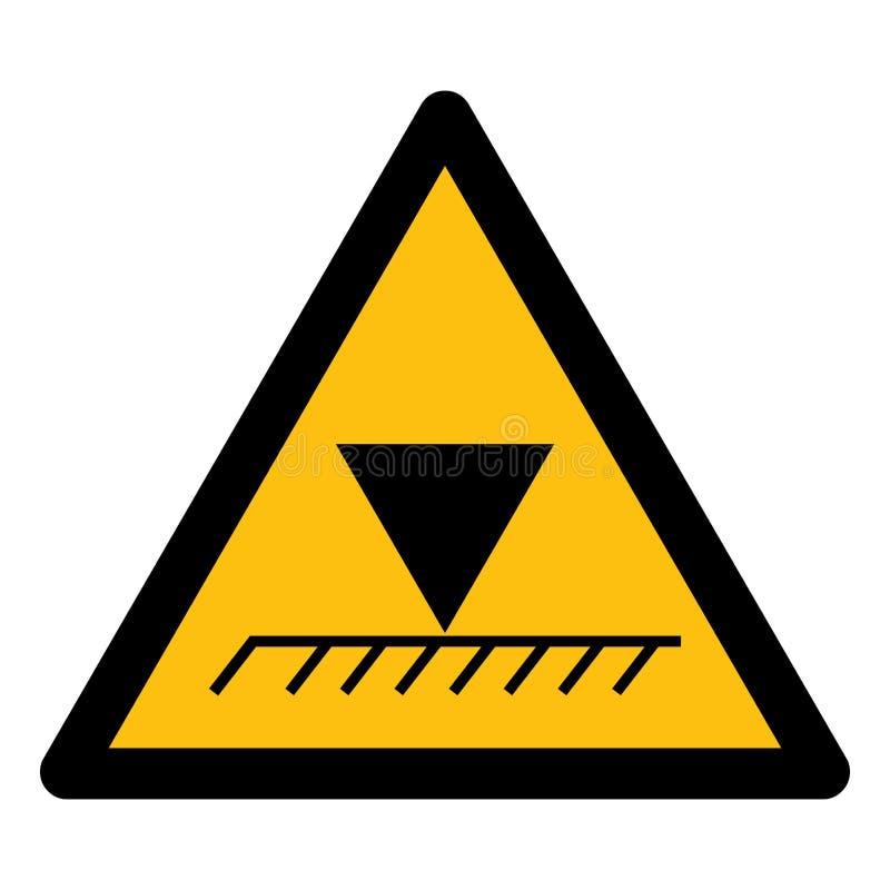 Isolado aéreo do sinal do símbolo da altura do limite no fundo branco, ilustração EPS do vetor 10 ilustração royalty free