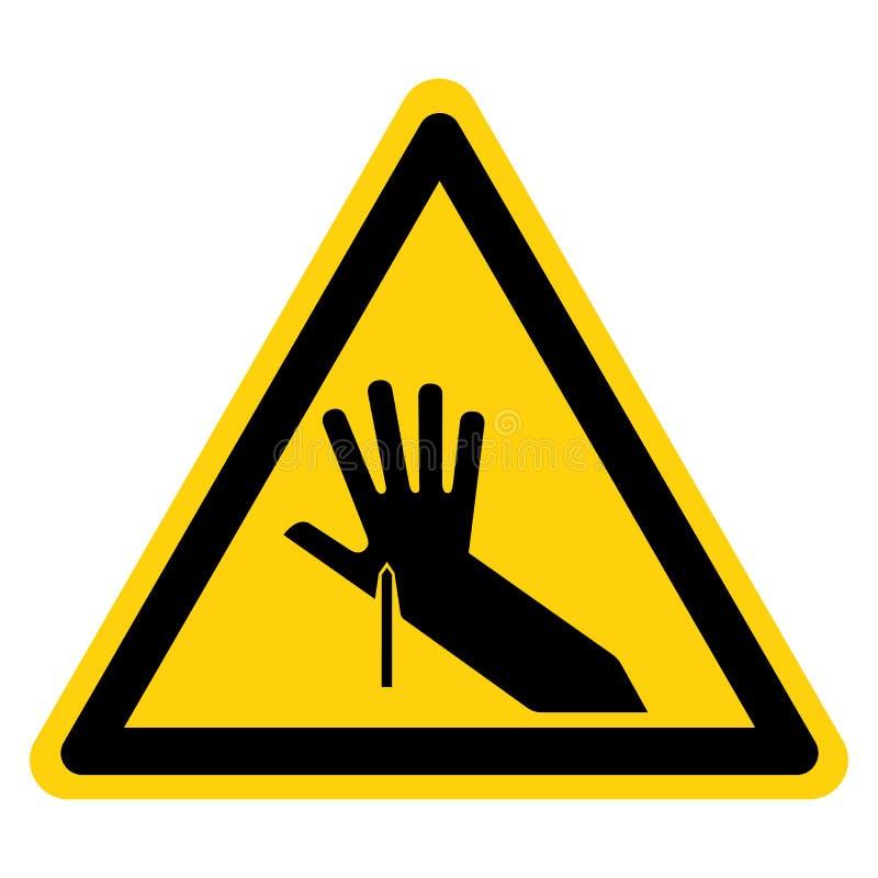 Isolado afiado do sinal do símbolo do ponto no fundo branco, ilustração do vetor ilustração do vetor
