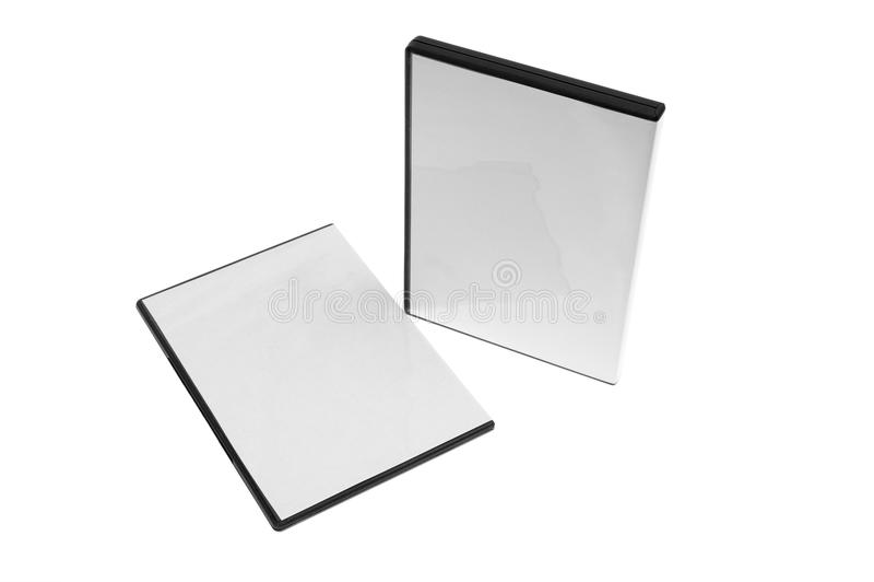 Isolado - caso em branco DVD/CD ilustração royalty free
