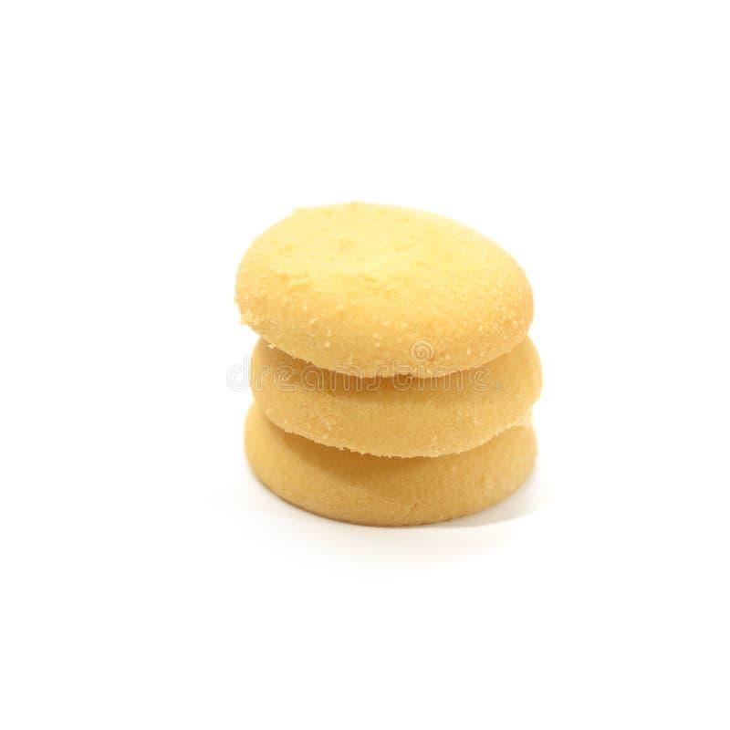 Isolado da cookie da lava do chocolate no fundo branco imagem de stock royalty free