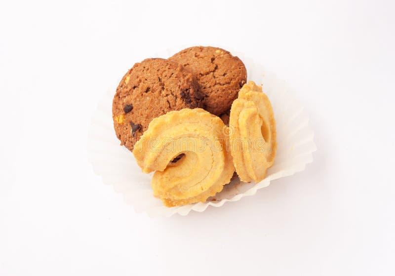 Isolado da cookie no fundo branco fotografia de stock royalty free
