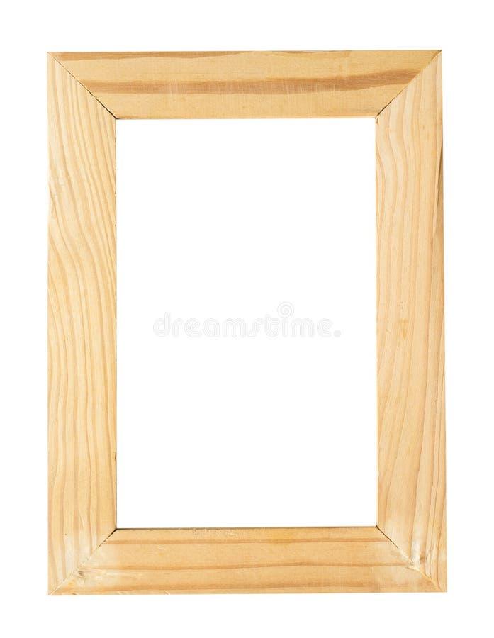 Isolado de madeira da moldura para retrato imagens de stock royalty free