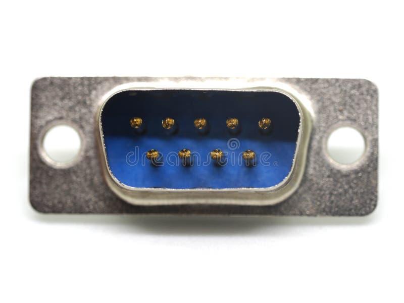 Isolado do conector de VGA no branco imagens de stock royalty free