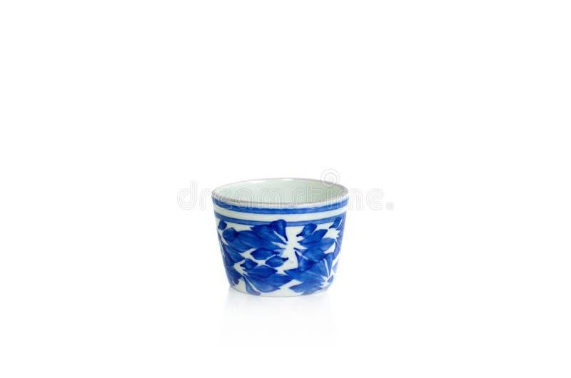 Isolado do copo de chá da porcelana no fundo branco ilustração do vetor