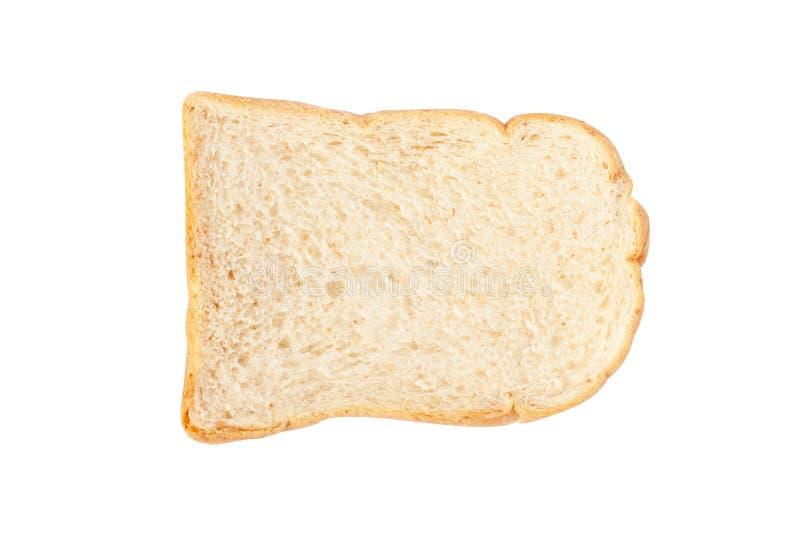 Isolado do pão branco no fundo branco imagens de stock