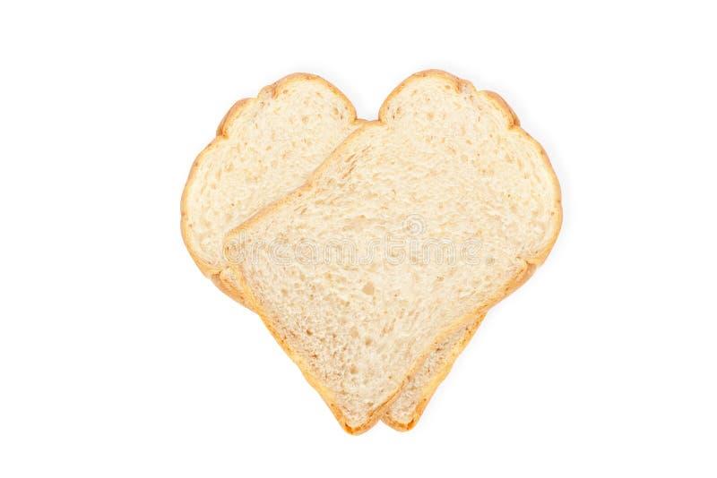 Isolado do pão branco no fundo branco imagem de stock royalty free