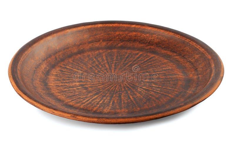 Isolado do prato do produto de cerâmica fotos de stock