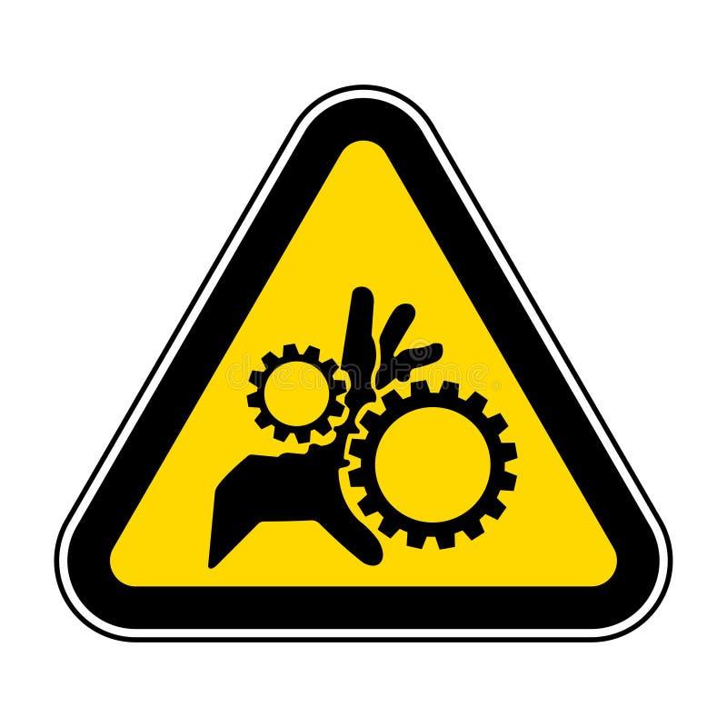 Isolado do símbolo das peças móveis no fundo branco, ilustração EPS do vetor 10 ilustração stock