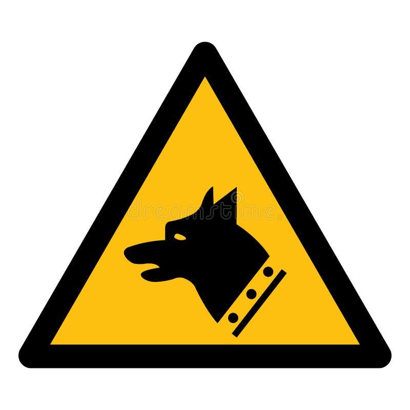 Isolado do sinal do símbolo do cão do calibre no fundo branco, ilustração EPS do vetor 10 ilustração do vetor