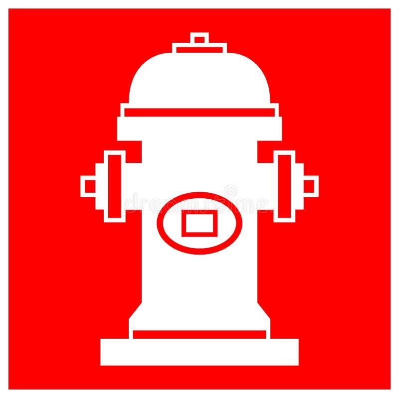 Isolado do sinal do símbolo da boca de incêndio de fogo no fundo branco, ilustração EPS do vetor 10 ilustração do vetor