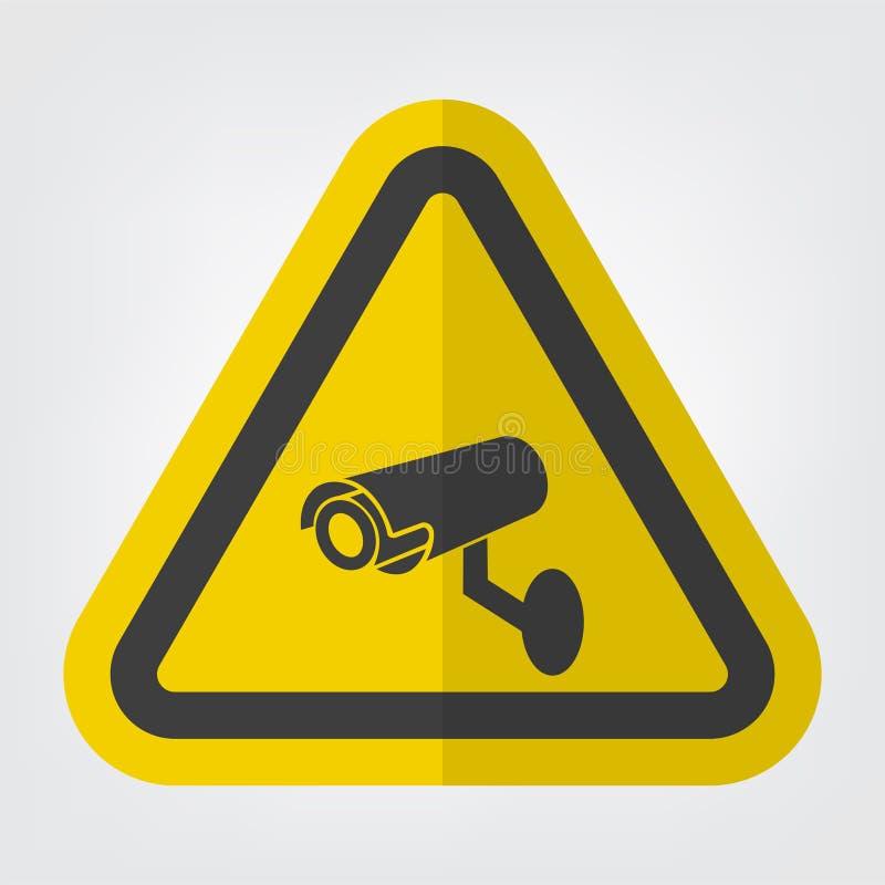 Isolado do sinal do símbolo da câmara de segurança do CCTV no fundo branco, ilustração do vetor ilustração royalty free