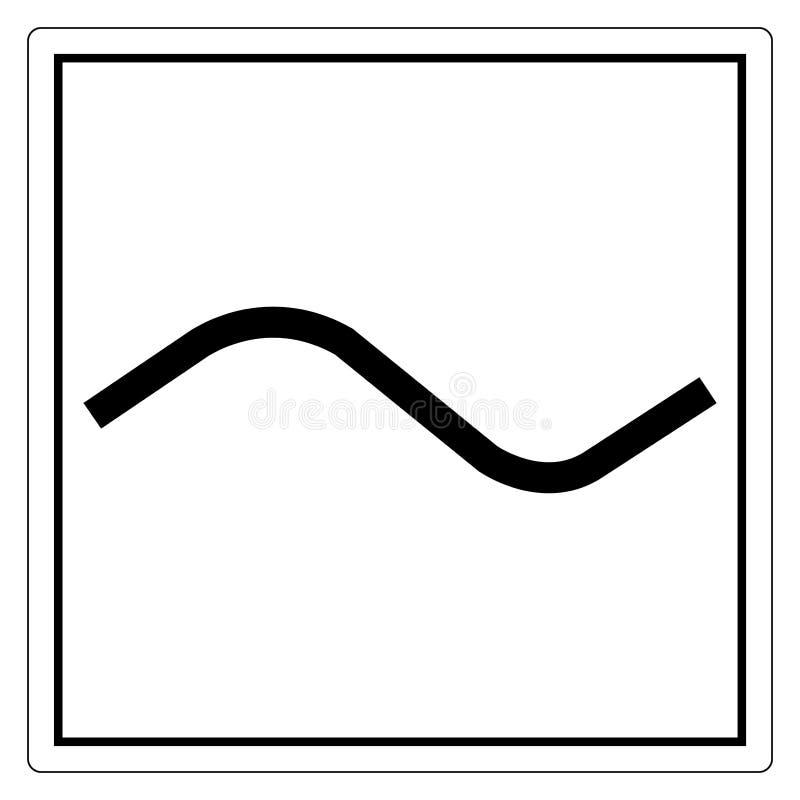 Isolado do sinal do símbolo da C.A. da corrente alternada no fundo branco, ilustração EPS do vetor 10 ilustração stock