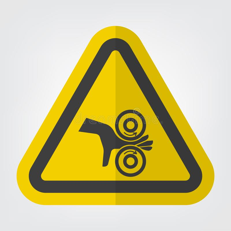 Isolado do sinal do símbolo dos rolos da complicação da mão no fundo branco, ilustração EPS do vetor 10 ilustração do vetor