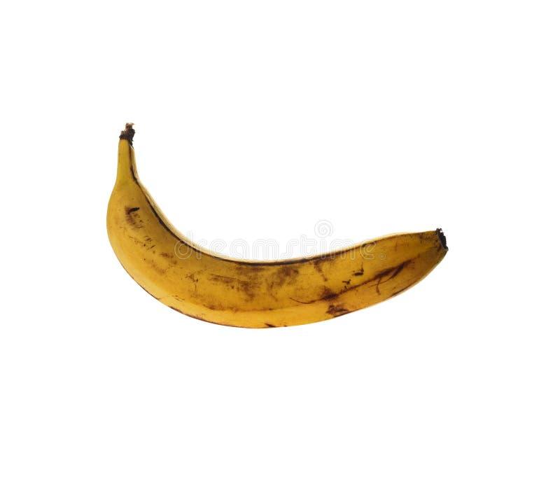 Isolado na banana madura ou estragada branca fotos de stock