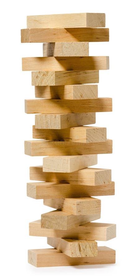 Isolado na estrutura de madeira branca dos tijolos imagens de stock