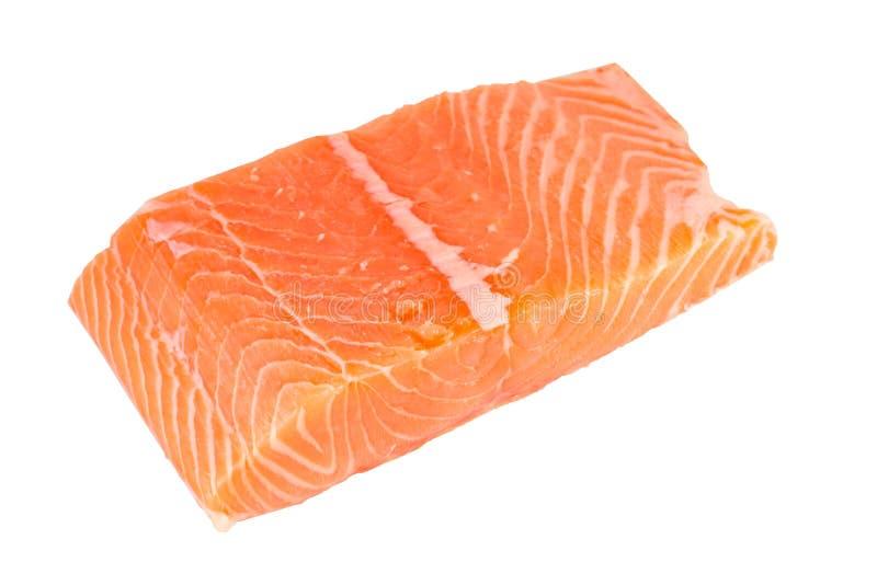 Isolado Salmon do fiillet no fundo branco foto de stock royalty free