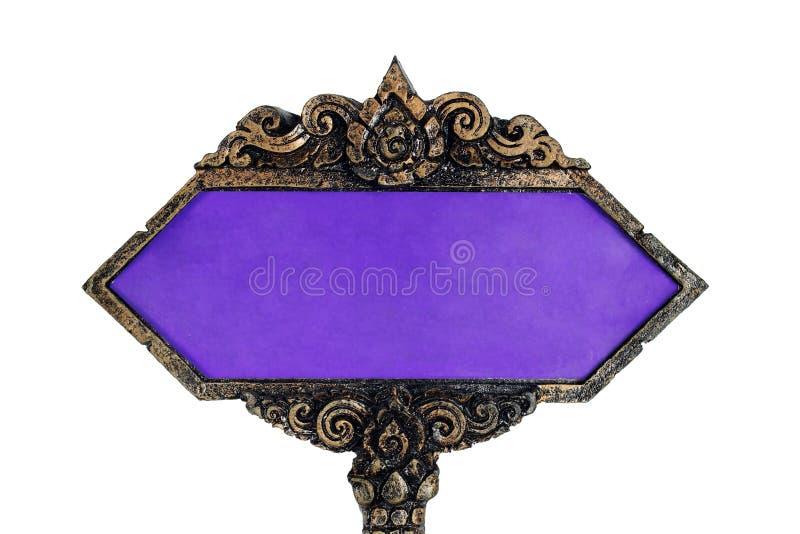 Isolado tailandês tradicional do sinal do estilo no branco fotos de stock royalty free