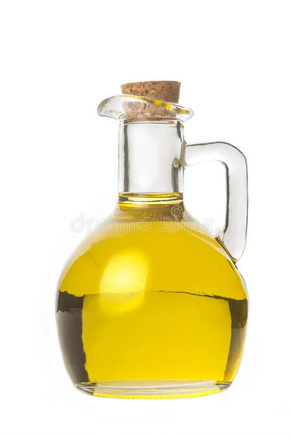 isolaled的额外处女橄榄油 免版税库存图片