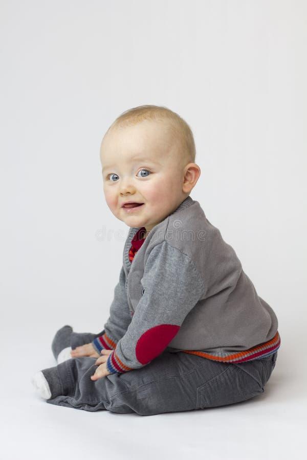 Isolamento bianco del bambino fotografie stock
