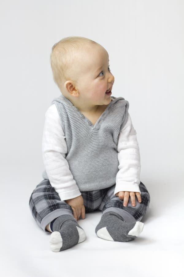 Isolamento bianco del neonato immagini stock libere da diritti