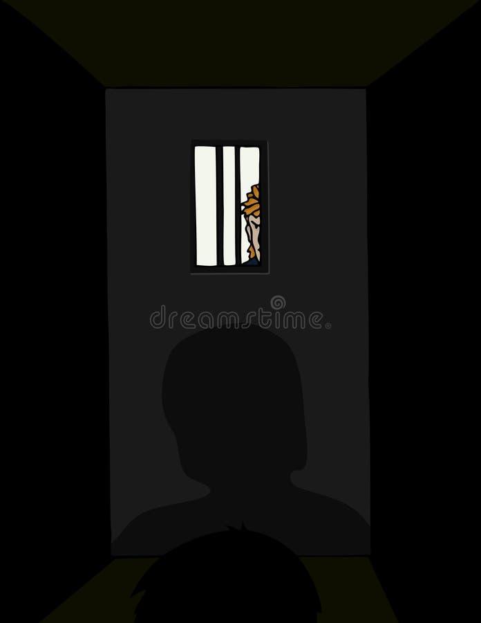 Isolamento in cella royalty illustrazione gratis