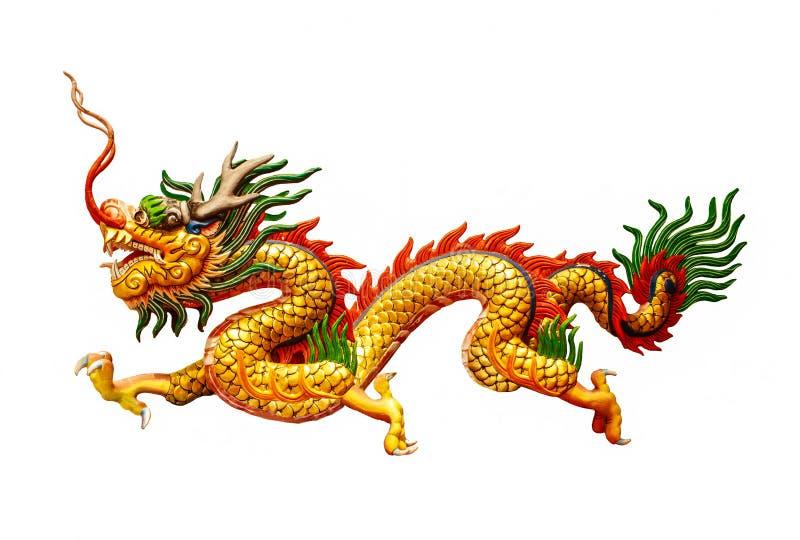Dragão chinês no fundo branco foto de stock