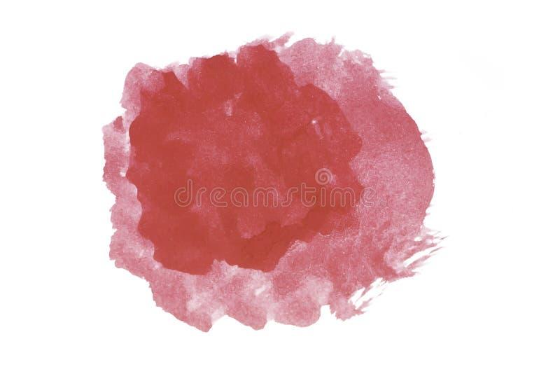Isolamento da tinta colorida de água vermelha imagens de stock