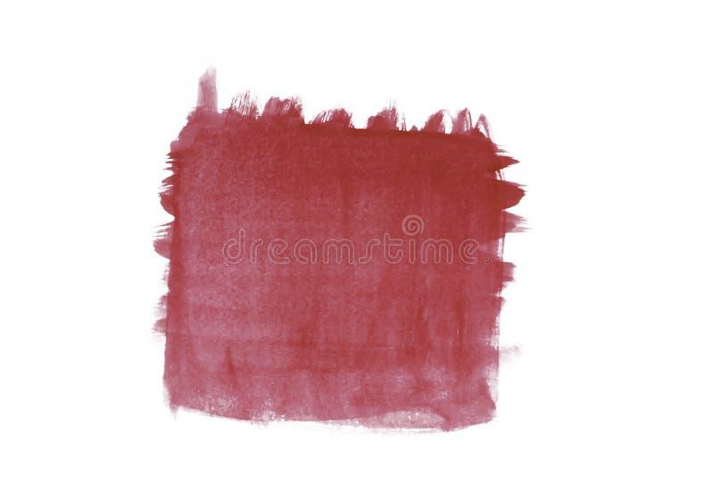 Isolamento de cor de água vermelha ao quadrado fotografia de stock