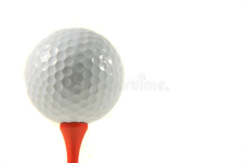 Isolamento della sfera di golf fotografie stock