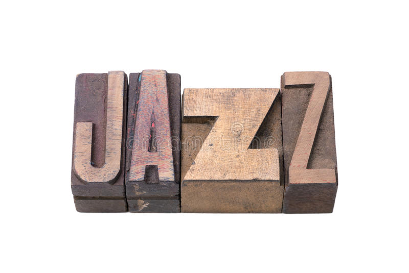 Isolant de mot de jazz photo stock