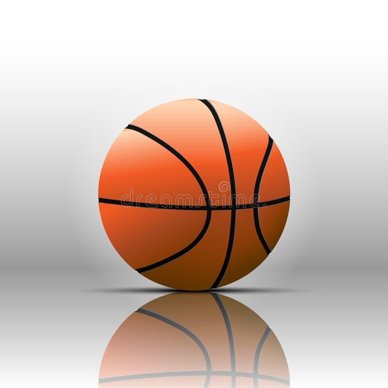 Isolat de basket-ball sur le fond blanc illustration de vecteur