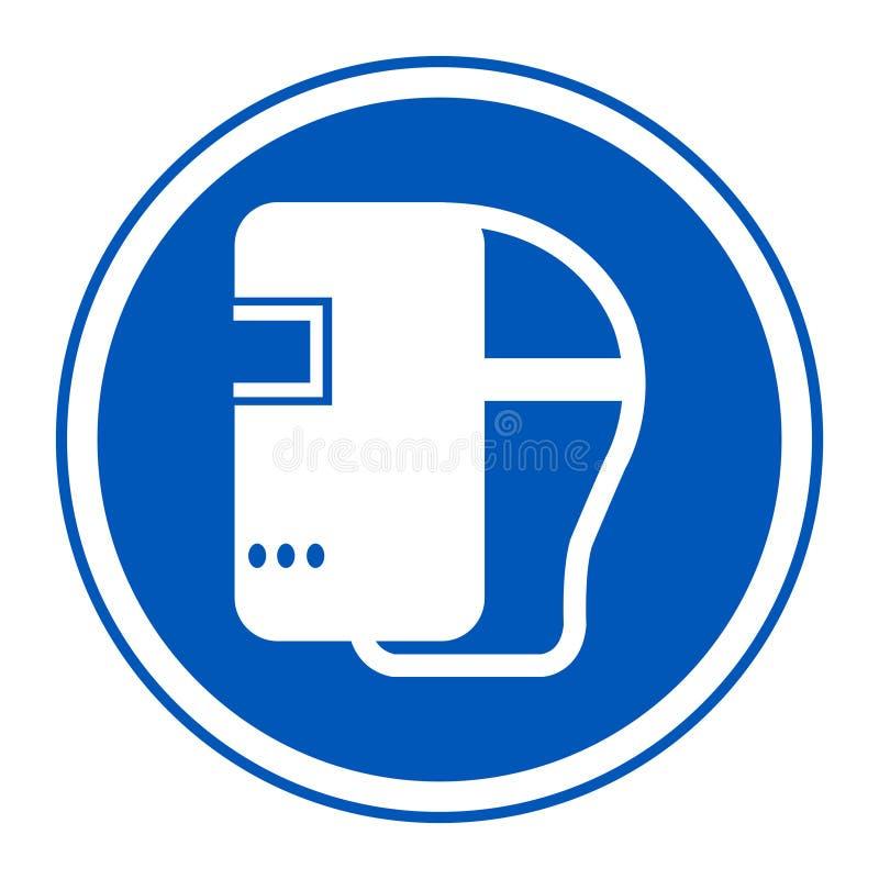 Isolat de casque de soudure d'usage de symbole sur le fond blanc, illustration ENV de vecteur 10 illustration de vecteur