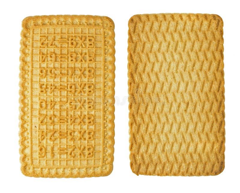 isolat de four à sucre rectangulaire représentant une plaque de multiplication pour le thé, vue avant et arrière photos stock