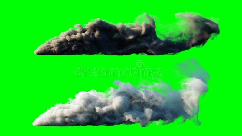 Isolat de fusée de lancement Écran vert rendu 3d illustration stock