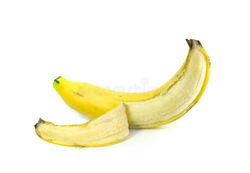 Isolat de peau de banane sur le fond blanc image libre de droits