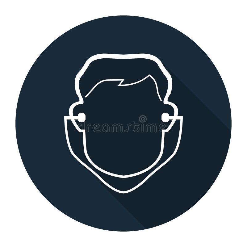 Isolat de signe de prise d'oreille d'usage de symbole sur le fond blanc, illustration de vecteur illustration stock