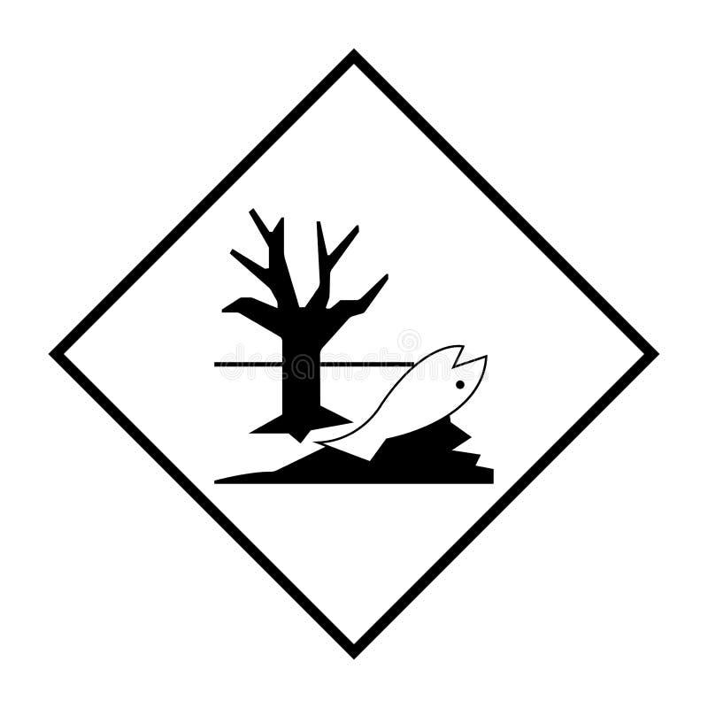 Isolat de signe de symbole de danger pour l'environnement sur le fond blanc, illustration ENV de vecteur 10 illustration libre de droits